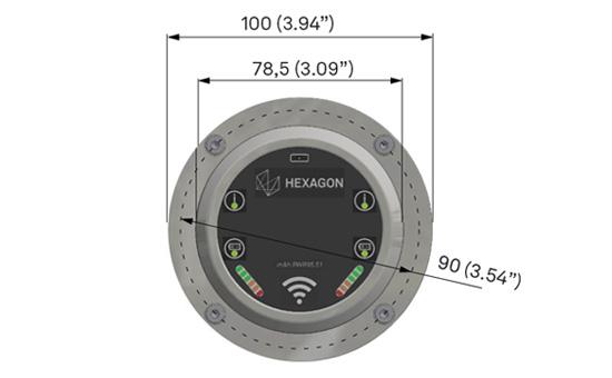 Размеры радиоволнового приемника RWR95.51.