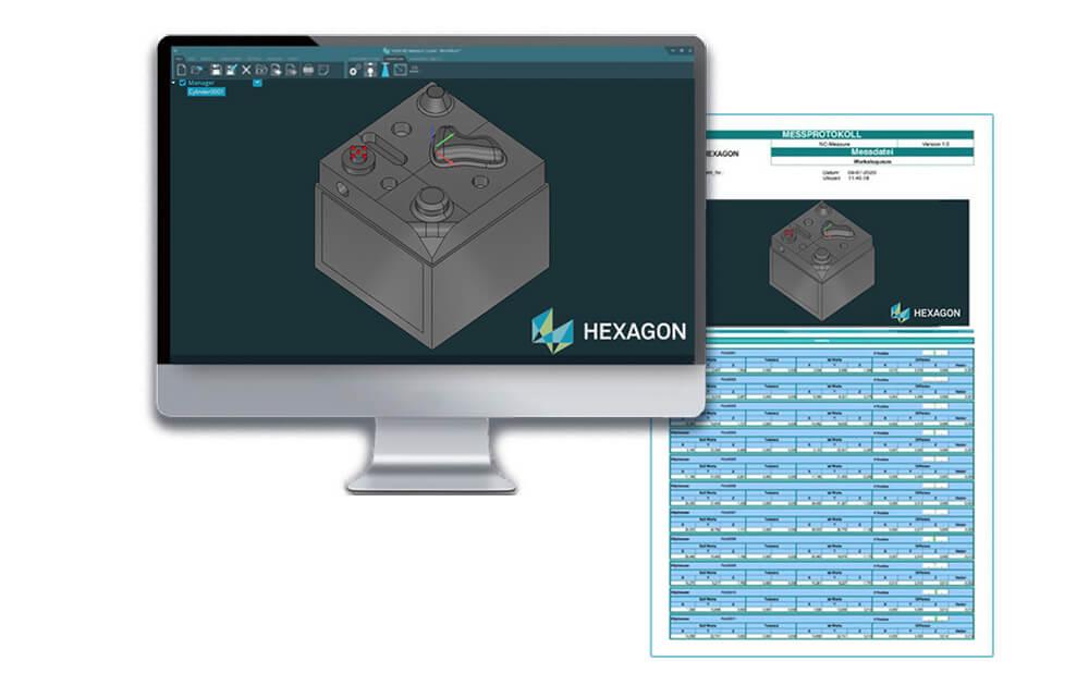 Отчеты HxGN NC Measure после измерения детали на станке